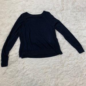 J. Crew Navy Linen Swing Sweater